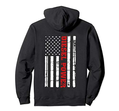 Diesel Power Flag Hoodie Truck Turbo Brothers Mechanic (Diesel Power Hoodie)