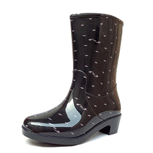 Alger Fashion Slim Long Sleeve Anti - slip Water Shoes Women 's Rain Boots, 39