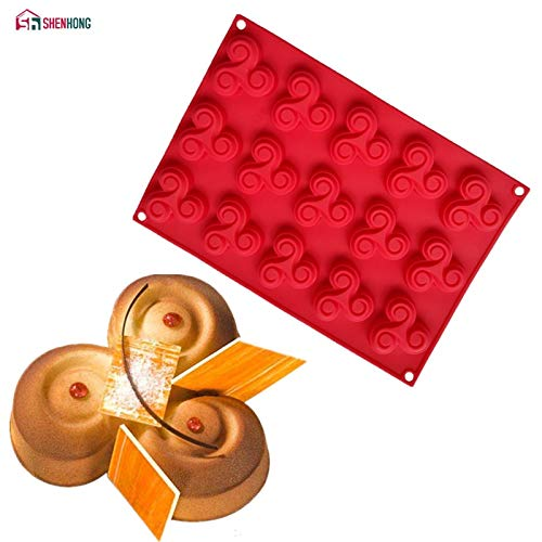 1 Set SHENHONG Rotary flywheel 3D Silicone Cake Mold Art Biscuits Cookies Mould Mousse Chocolates Baking Pastry Silikonowe Moule