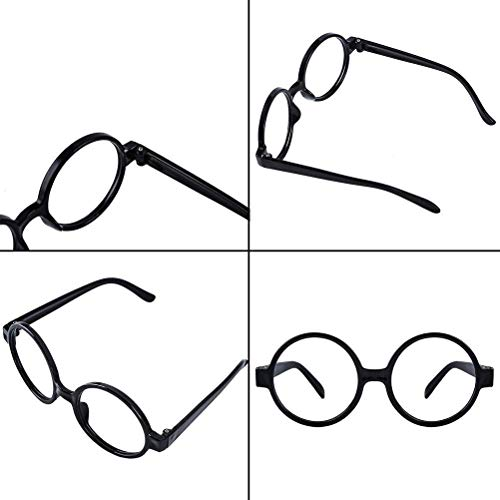 ba02c0dd792 Kids Wizard Glasses Retro Round Glasses Frame No Lenses for Christmas  Costume Party Cosplay Supplies for