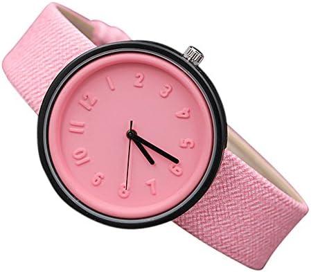 Yesmile ❤ Reloj puntero digital simple Estudiante Unisexo Moda simple Número de relojes Cuarzo Cinturón de lona Reloj de pulsera
