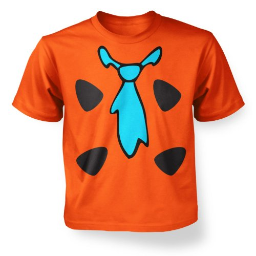 [Caveman Costume Boys T-shirt - Orange L (9-11)] (Caveman Girl Halloween Costume)