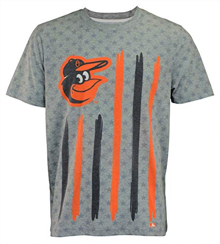 Baltimore Orioles Tee - MLB Men's Big Logo Flag Tee, Baltimore Orioles XX-Large