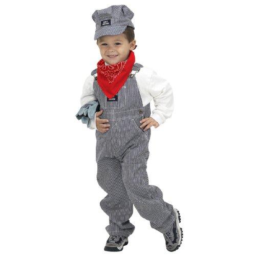 Child Train Engineer Costume, Size 4-6 White Christmas Express Train Set