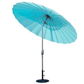 Parasol chinois Shanghai turquoise: Amazon.fr: Jardin