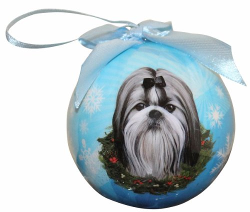 Shih Tzu Christmas Ornament Shatter Proof Ball Easy To Personalize A Perfect Gift For Shih Tzu (Shih Tzu Face)