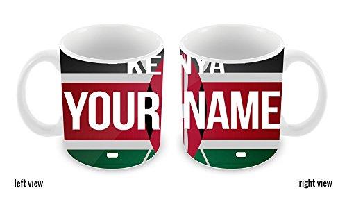 BleuReign(TM) Personalized Custom Name License Kenya Plate 11oz Ceramic Coffee Mug