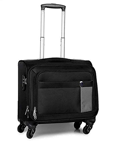 NOVEX Polyester 42 cms Soft Laptop Roller Cases (NXON624LACK_Black)