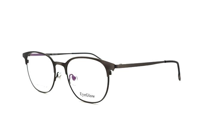 eyeglow redondo marco gafas gafas marco lente de demo 8507: Amazon ...