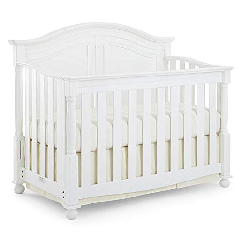 Full Size Conversion Kit Bed Rails for Bedford Baby Monterey Cribs - White