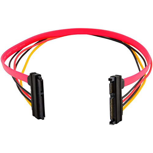 (5-pack) 15+7 Pin SATA HDD Extension Cable Data+Power Male to Female 19'' / 50cm by EopZol (Image #1)