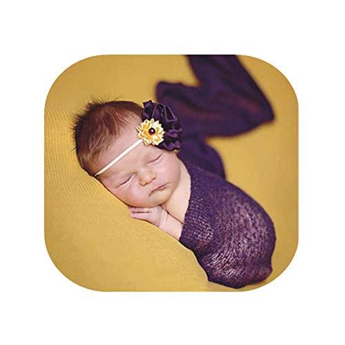 Luxury Stretch Newborn Boy Girl Baby Photography Props Wrap Yarn Cloth Blanket -