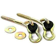 Adult Swing Hardware : Set of Two Screw Hook Anchors with Pulley Hangers for Wooden Frame / Ceiling