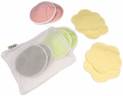 Ultra-Soft Velvet Flower Pads Multi-Color 10 Pack with 2 Pouches /& E-Book Perfect Baby Shower Gift EcoNursingPads Washable Reusable Bamboo Nursing Pads Organic Bamboo Round Breastfeeding Pads