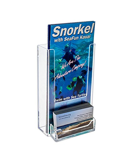 Amazon source one tall boy 4 inch wide wall mount brochure source one tall boy 4 inch wide wall mount brochure holder with business card holder reheart Image collections