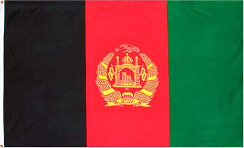 AFGHANISTAN FLAG 2X3FT POLY