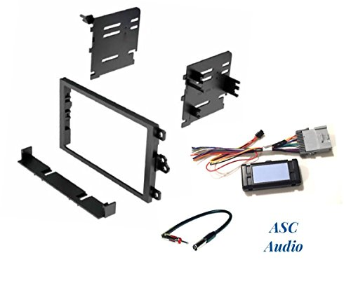 ASC Audio Car Stereo Dash Kit, Wire Harness, and Antenna Adapter to Add a Double Din Radio for some Buick Chevrolet GMC Isuzu Oldsmobile Pontiac with + without Bose - See Full Details Below