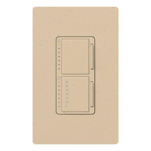 Lutron MA-L3T251-DS Maestro 300 Watt Single Pole Dimmer And Timer Switch, Desert Stone ()