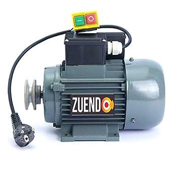 MOTOR DE 0,25 KW MONOFÁSICO 220V CON POLEA Y CABLE: Amazon.es: Industria, empresas y ciencia