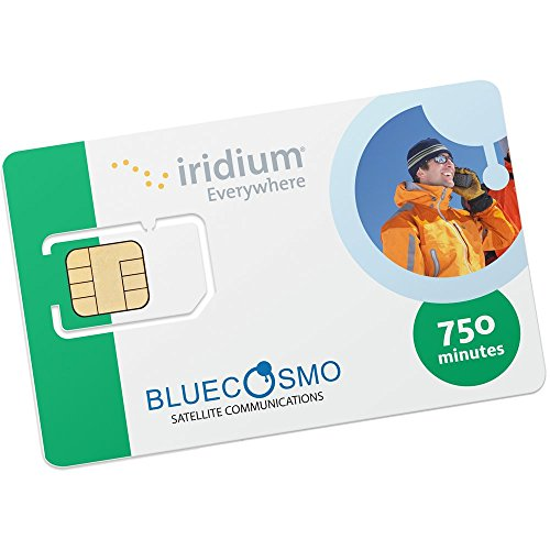 BlueCosmo Iridium 750 minute 6 month Prepaid Satellite Phone SIM Card - No Rollover by BlueCosmo