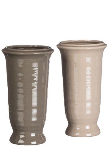 Sullivans Flower Vase Ceramic Brown Home Accessories Set of 2