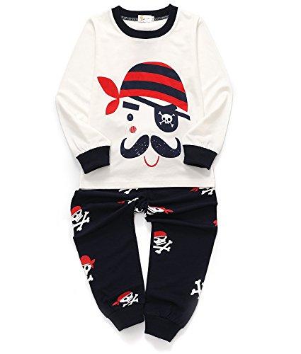 Little Girls Pants Set Pajamas Cotton Toddler Sleepwears Kids Clothes Size 5-6 - 4 Pajamas Set Boys Size