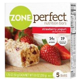 - Zone Perfect Nutrition Bar - Strawberry Yogurt (5 Bars - 1.76 oz. Each)