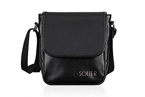 Derry Bag Shoulder Brown Sl07 Genuine Men's Leather Black Dark wqXxa14qW