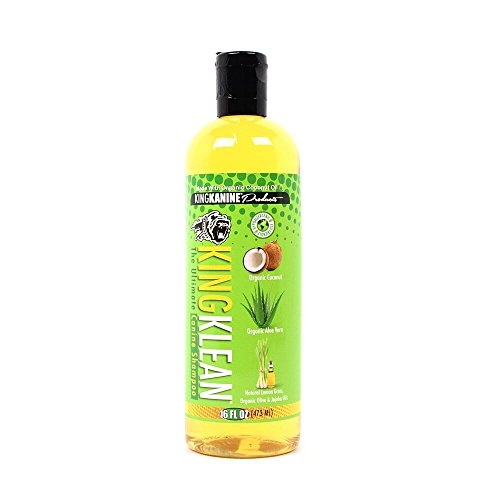 King Klean All Natural & Organic Canine De Shedding Shampoo 16 oz Hypo-Allergenic Non Toxic