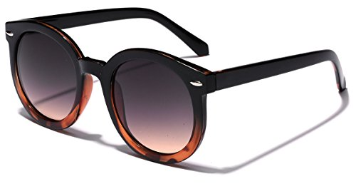 Vintage Retro 80's Round Frame Women's Fashion - Tortoise Shell Sunglasses Retro