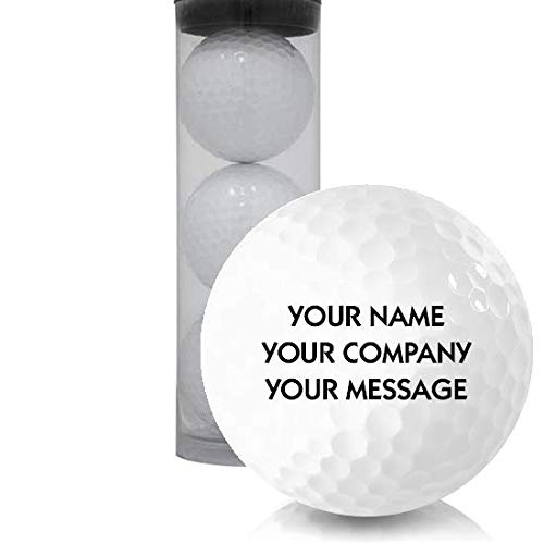 Blank Single Sleeve Personalized Golf Balls with Clear Tube Sleeve