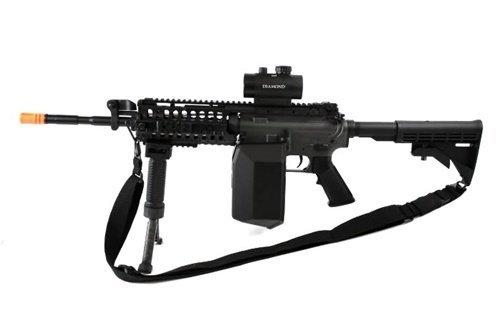 445 fps jg full metal gearbox m4 s-system custom aeg gunner - newest enhanced model(Airsoft Gun) (445 Fps Jg Airsoft M4 S System)
