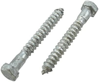 "Quantity of 1 1//2/"" X 5/"" Hot-Dipped Galvanized Grade 2 Lag Screw"