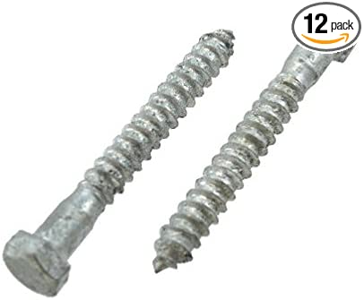 1//2 X 12 Lag Screws Pack of 12