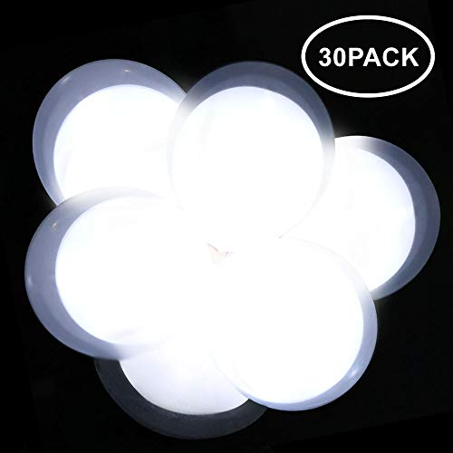 Neo LOONS White LED Light up Balloons Double