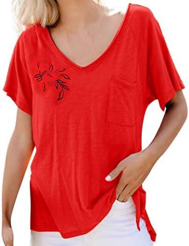 Xmiral - Camiseta de Manga Corta para Mujer de Verano, Estilo básico Rojo S: Amazon.es: Ropa y accesorios