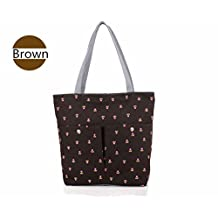 Stylish Canvas Zippered Tote Bag w/Zipper Front Pocket Pool Beach Shopping Travel Tote Bag Eco-Friendly
