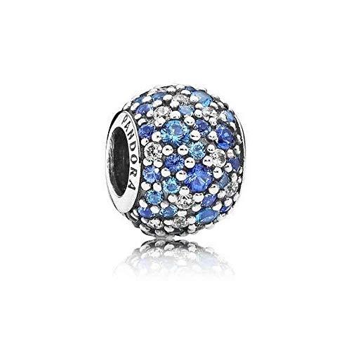 Pandora Sky Mosaic Pave Multicolored Charm 791261NSBMX (8 Inch Pandora Charm Bracelet)