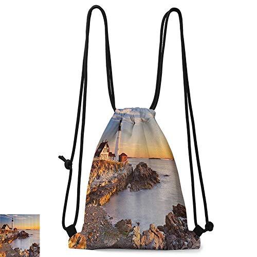 Outdoor sports backpack United States Cape Elizabeth Maine River Portland Lighthouse Sunrise USA Coast Scenery W14