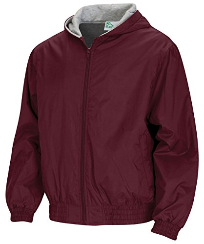 Classroom Uniforms Adult Unisex Zip Front Bomber Jacket_Burgundy_2XL (Uniform Zip Mens School)