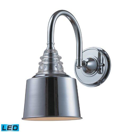 Elk 66803 1 Led Insulator Glass Wall Sconce Lighting 1 Light Led Polished Chrome