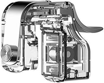 KYT-私 1ペアミニ補助リムーバブルゲームトリガーハンドルコントローラー電話ゲーム透明金属アクセサリーユニバーサル発射ボタン