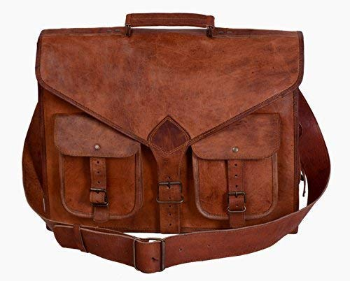 Buy leather messenger bags for men