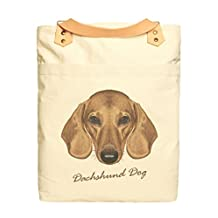 Vietsbay Unisex Dog Portraits Printed Canvas Leather Straps Backpack WAS_34