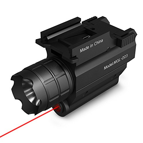 TEC.BEAN Tactical Compact Rail Mounted with 300 Lumen Led Flashlight,for Hunting,Camping,Hiking