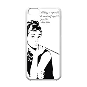 Custom Audrey Hepburn New Back Cover Case for iPhone 5C CLR64 Kimberly Kurzendoerfer