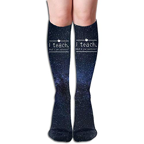 I Teach What is Your Superpower Cotton Over The Calf Socks for Men & Women