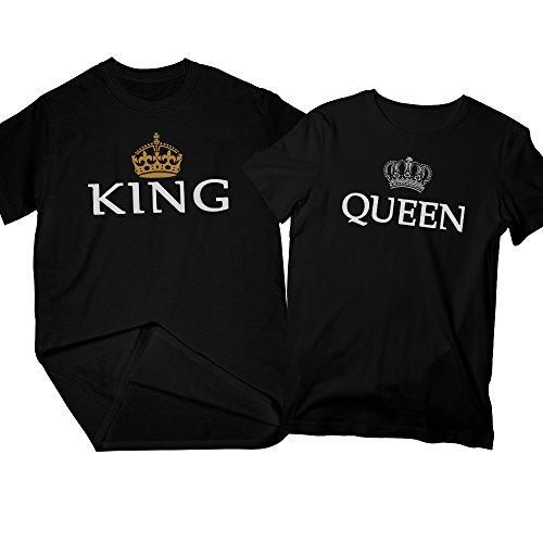 f501739722 King & Queen | Matching Couple Shirts, His and Her T-Shirt – Couple Gifts