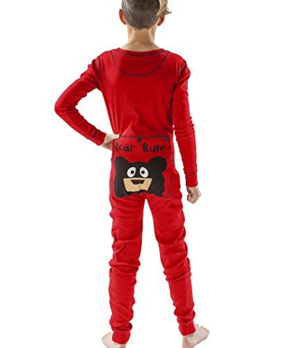 Bear Bum Kids Flapjack Onsie Pajamas by LazyOne | Adult Kid Infant Dog Family Matching Pajamas (12) (Bum Pajamas Bear)