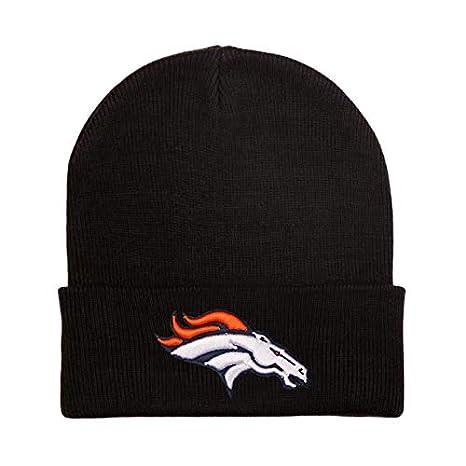 MT-Sports Fans Black Knit Beanie Caps Hat Football Team Embroidery Logo Winter Fashion Warm Wool Cap Hat Great Gift